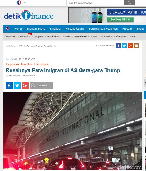 Berita tentang Kebijakan Imigrasi Trump Menimbulkan Keresahan